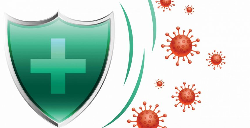 healthcare medical shield protecting virus to enter